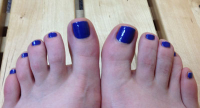Day 5 yoga toes