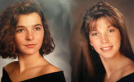 Senior portraits of my sister and me.