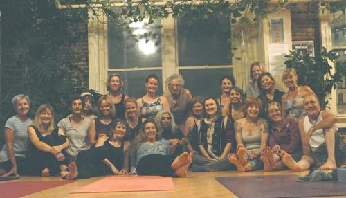 Satyana Yoga Studio workshop participants
